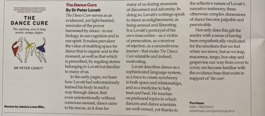 The Dance Cure reviewed One Dance UK