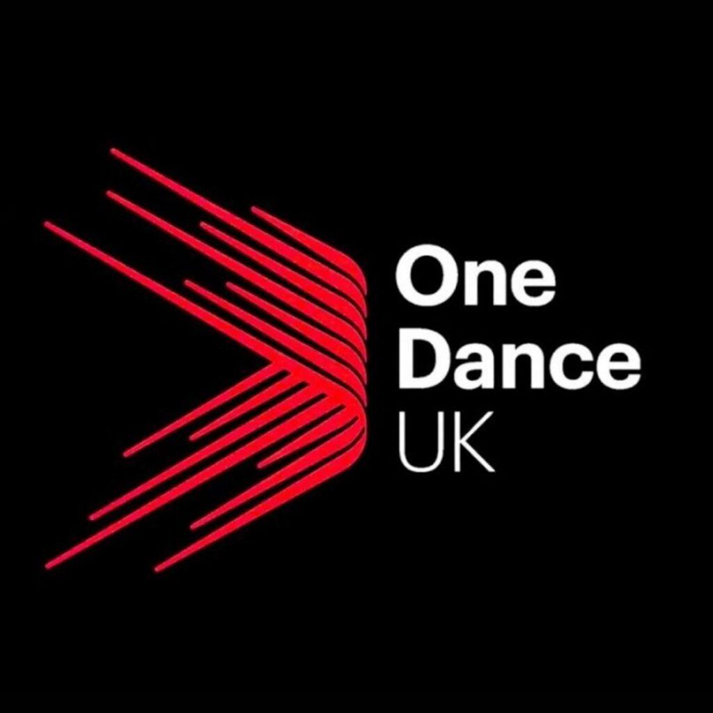 One Dance UK Logo Red on Black