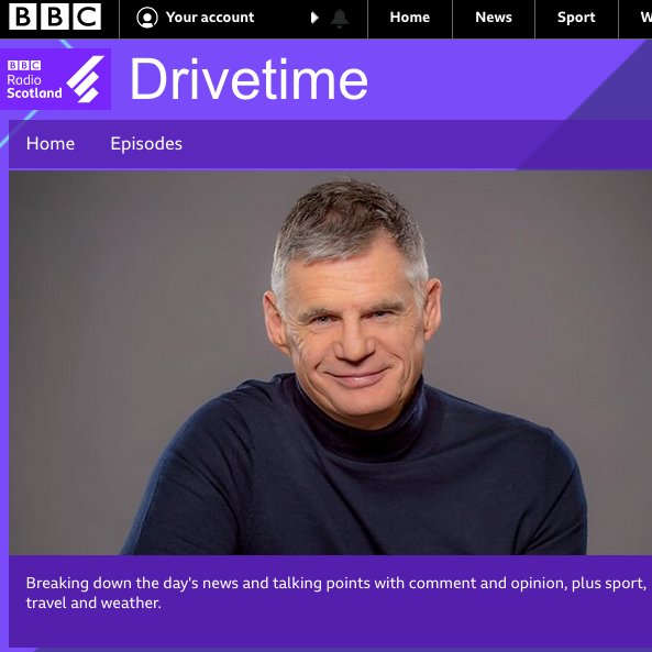 BBC Radio Scotland Drivetime John Beattie