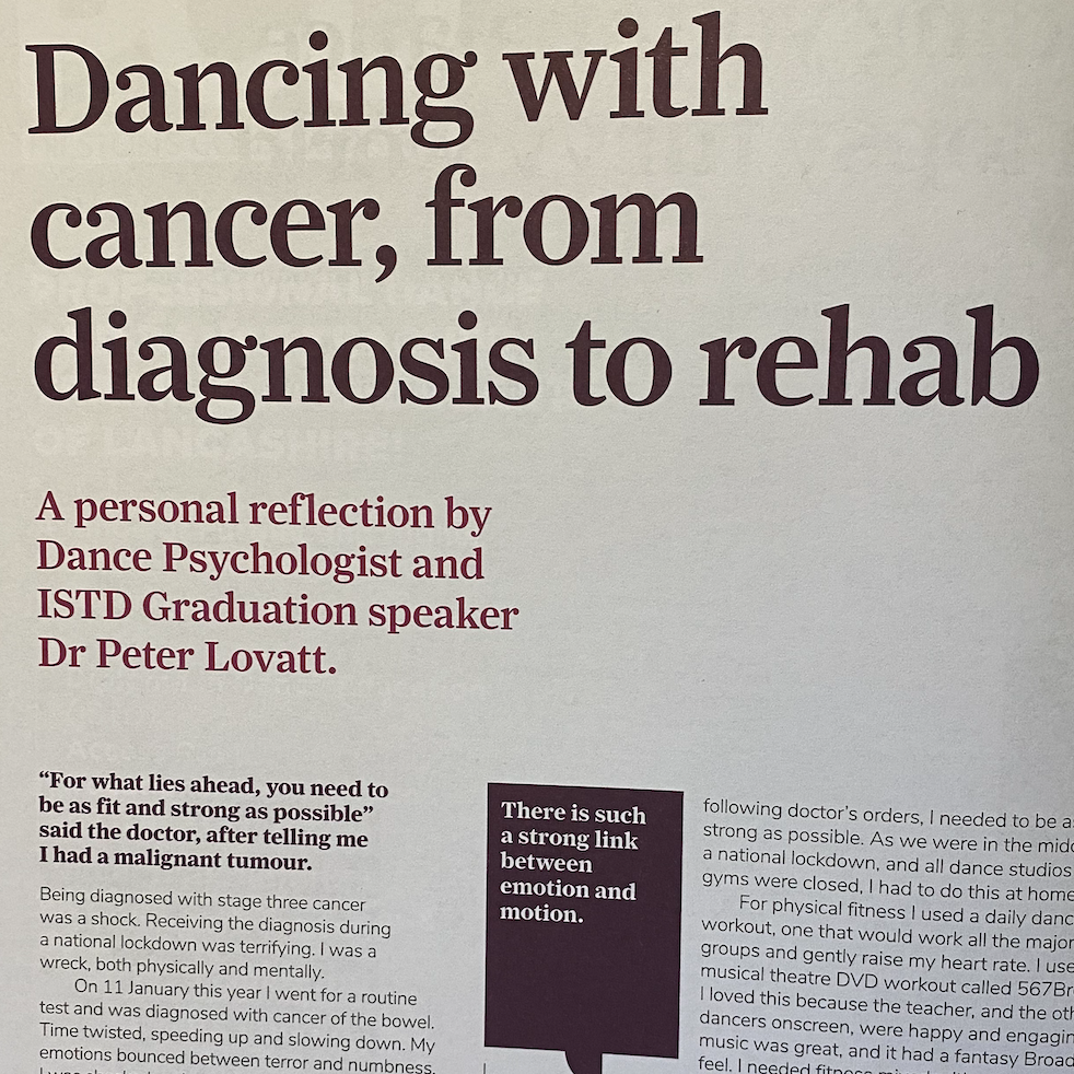 Dancing with cancer article
